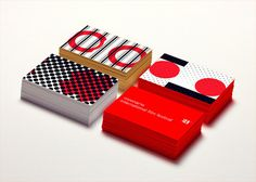 Visionaria, International Film Festival 2013. Brand, cards @canefantasma, 2013 #business card #red