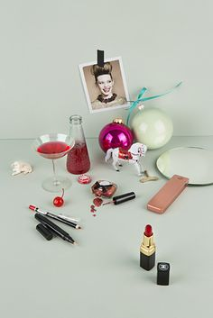 beauty christmas still life #design #set #christmas #still #life