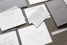 FPO: Margaret & Pat Wedding Materials #letterpress #clean #minimal #stationery #wedding