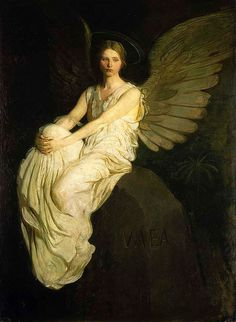 Abott Thayer, Stevenson Memorial #painting #thayer