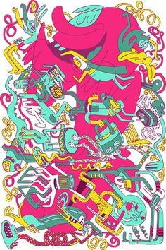 Party On! on Behance #illustration