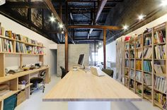 TD atelier and endo shojiro rehabilitate kyoto machiya into home office #office