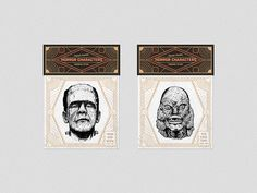 Horror characters on Behance #drawings #heymikel #classic #horror #temporary #tattoo #illustration #movies #characters