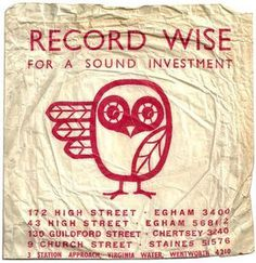 Record Envelope: Record Wise #record #wise #owl