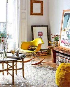 antonia magdalena #interior #rocking #chair #design #frames #deco #decoration #eames