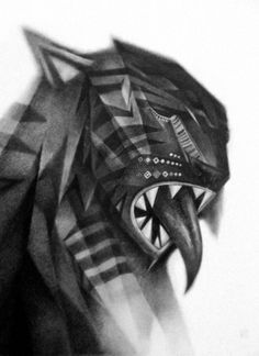 supersonic electronic / art #bayo #graphite #cat #geometric