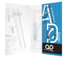 Architecture Blueprint Pocket Folder Design Template | #pocket #folder #template