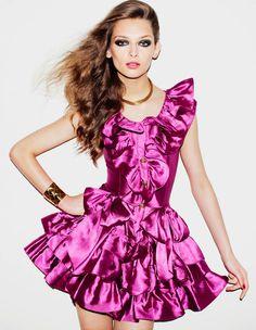 Daga Ziober by Matt Irwin for Vogue Japan #sexy #model #girl #pink #photography #fashion #dress