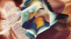 Plumes 3d digital generative artworks by Ari Weinkle design inspiration designblog www.mindsparklemag.com mindsparkle mag arty art digital g