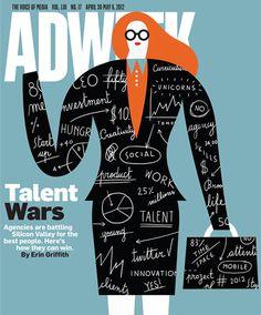 ADWEEK Olimpia Zagnoli #cover #illustration #adweek #magazine