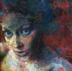 Niomi, david agenjo #eyes #painting #woman #texture