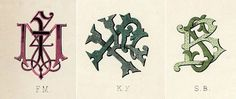 Type Thursday: Wilkinson, Heywood and Clark Ltd Monograms | Sub/Conscious Meanderings #monogram