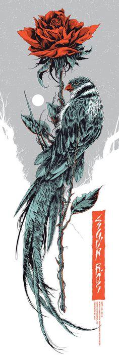 Ken Taylor SIGUR ROS - NORTH CHARLESTON #sigurros #musicposter #bird #kentaylor #poster #music #typography