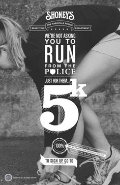 5k_run #poster #typographics