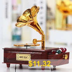 Creative #Ancient #Phonograph #Music #Box #- #BROWN