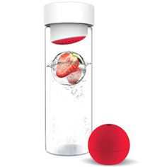 Flavour-It glass water bottle comes with a fruit infuser to keep your water fresh with a fruity and summery twist. #design #product #industr