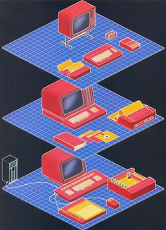 brick house : Photo #computer #art #80s