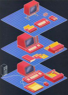 brick house : Photo #computer #art #80s