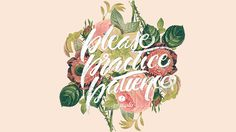 Calligraphy : Floral #lettering #illustration #design #typography