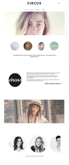 Circus Magazine Web Development by Sarah Gardner #design #minimal #layout #web #editorial #magazine