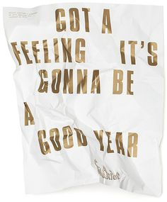 Póster Got a feeling it's gonna be a good year. #packaging #wrapping #wine #typography