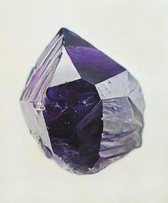 W:Blut #stone #purple #rock #gem #facet