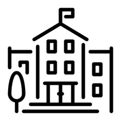 See more icon inspiration related to school, university, classroom, education, college, buildings, monuments and architecture and city on Flaticon.