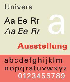 Univers® Std #font #typeface