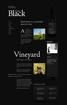 Black Estate Vineyard by Crane Brothers #website #web #web design #ui #ux