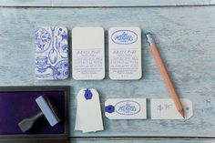gorgeous #card #illustration #blue #business