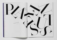 . #typography #spread #letters #serif font