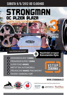 European STRONGMAN'S CUP Pilsen 9/6/2012 on the Behance Network #advertisment #design #graphic #maurizzio