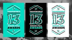 TRANSWORLD SNOWBOARDING 13TH RIDERS POLL AWARDS on the Behance Network #white #black #transworld #poster #snowboard #green