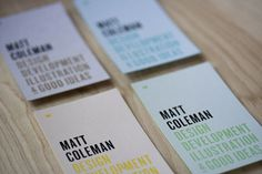 Matt Coleman Business Cards #business #card #branding