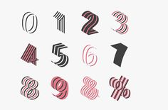 Bend Typeface - Juri Zaech on Behance #typography #number #type