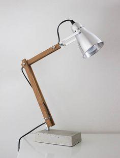 DIY industrial style wooden desk lamp #lamp