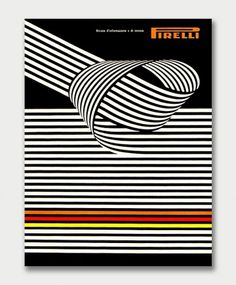 Mid-Century Pirelli Advertising. / Aqua-Velvet #pirelli #graphis #review #cover #1960s