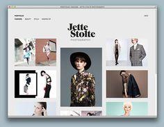 Jette Stolte Webseite #website #layout #design #web