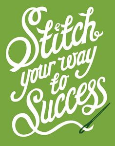 Stitch your way to success - Poster - Andy Smith Illustration #type