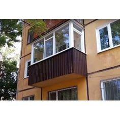 Балкон ремонт. Окна на балкон. Отделка снаружи металлическим профлистом
