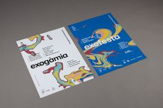 Exogà mia on Behance #abstract #vivid #colors #posters #typography