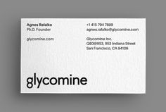 Glycomine by Essen International #business card
