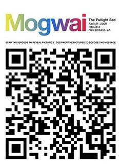 Flyer Goodness: Gig Posters with Attitude by Alan Hynes #qr #gig #design #graphic #code #poster