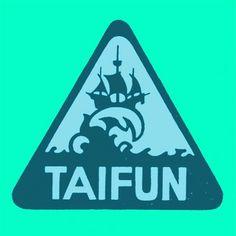 Draplin Design Co.: Taifun #emblem #wave #taifun #ship #logo