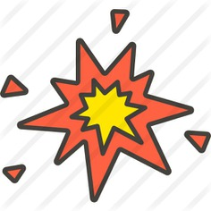 See more icon inspiration related to boom, bomb, miscellaneous, exploding, explosions, explosion and sound on Flaticon.