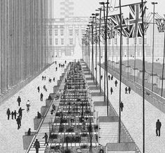 The War Rooms, St. James's Park by Ned Scott #illustration #architecture