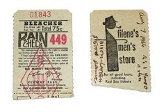 All sizes | Red Sox raincheck 1956 | Flickr - Photo Sharing! #ticket