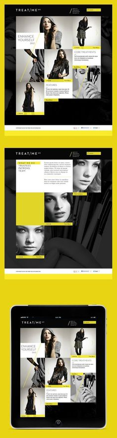 webdesign / Grid meets YELLOW. #yellow #design #ui #webdesign #template #layout