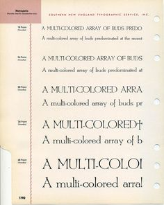 Metropolis type specimen #type #specimen