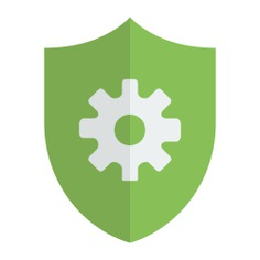 See more icon inspiration related to shield, security and settings on Flaticon.